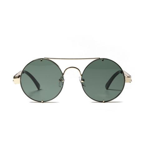 round double beam retro  metal sunglasses NHXU273163's discount tags