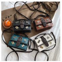 Korean fashion all-match houndstooth messenger small square bag NHLH273181