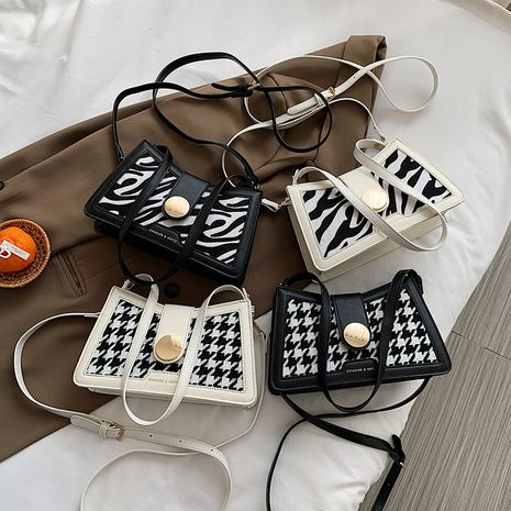 Bolso cuadrado pequeño de mensajero de pata de gallo de moda coreana NHLH273181's discount tags