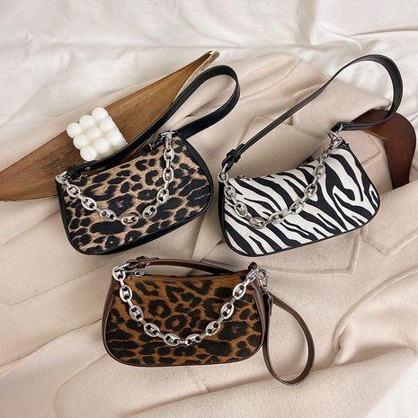leopard print one-shoulder underarm bag  NHLH273182's discount tags