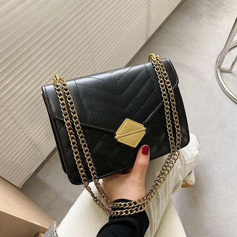 fashion messenger simple one-shoulder chain bag NHRU273236's discount tags