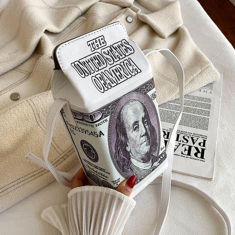 bolsa de mensajero de pu de personaje de dólar creativo de nueva moda NHHX273285's discount tags