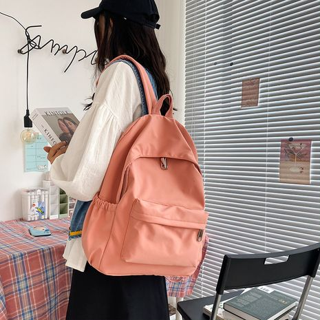 simple and versatile solid color school bag  NHHX273296's discount tags