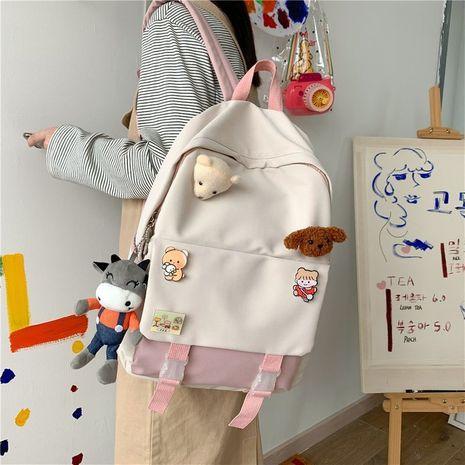 Korean hit color schoolbag wholesale NHHX273298's discount tags