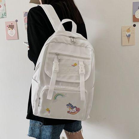 rainbow unicorn embroidery schoolbag  NHHX273311's discount tags