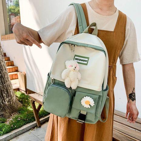 vintage flower Korean simple large capacity schoolbag  NHHX273312's discount tags