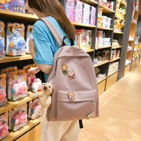 cute Korean simple large capacity schoolbag  NHHX273331's discount tags
