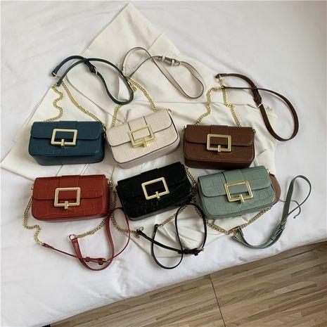 Bolso de hombro con estampado de cocodrilo coreano NHLH273372's discount tags