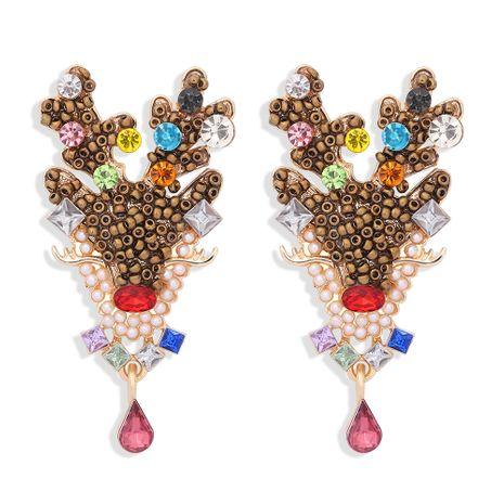 Boucles d'oreilles créatives de mode créative en forme de pendentif en forme de pendentif de wapiti de Noël NHJQ273812's discount tags