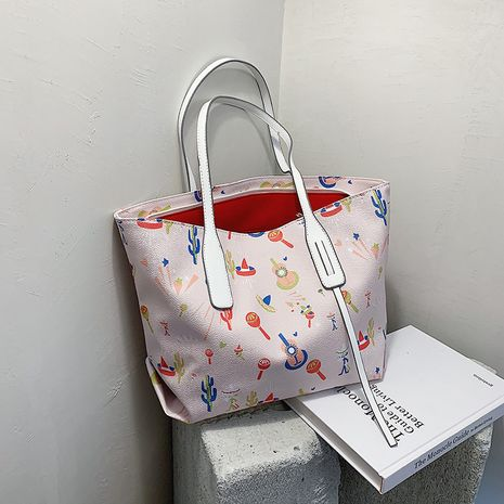 large-capacity all-match shoulder fashion tote bag NHLH273404's discount tags