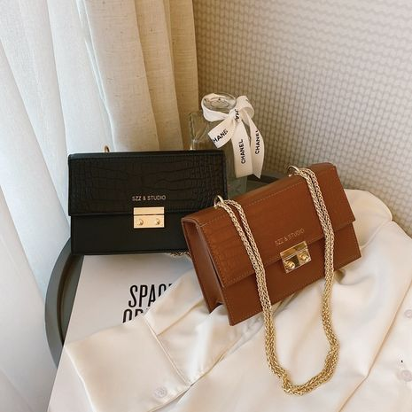 fashion one-shoulder messenger bags chain small square bag NHLH273439's discount tags
