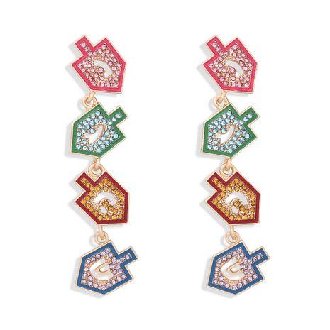 boucles d'oreilles créatives de mode simple couleur diamant petite flèche NHJQ273811's discount tags