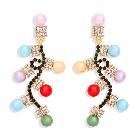 Christmas fashion inlaid with colored diamonds earrings NHJQ273809's discount tags