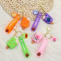 girl heart ice cream silicone car keychain ladies luggage pendant  NHAE273594