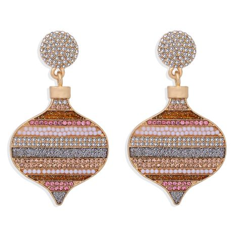 Christmas creative fashion lantern earrings NHJQ273808's discount tags