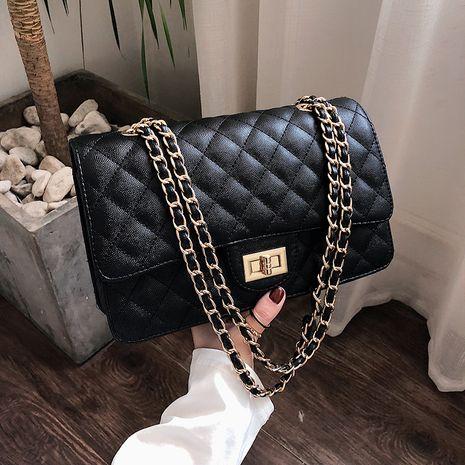 black fashion double rhombus bags  NHLH273620's discount tags