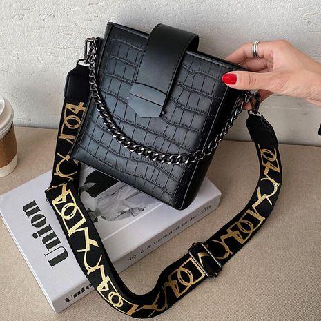 bolso de mensajero con estampado de cocodrilo de moda retro NHLH273638's discount tags