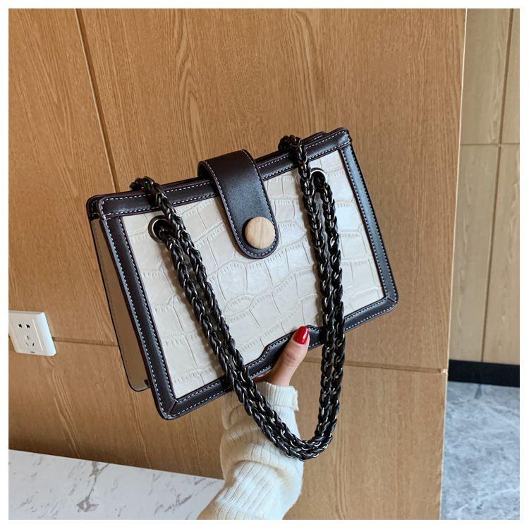 Simple largecapacity fashion retro oneshoulder messenger handbags NHLH273661