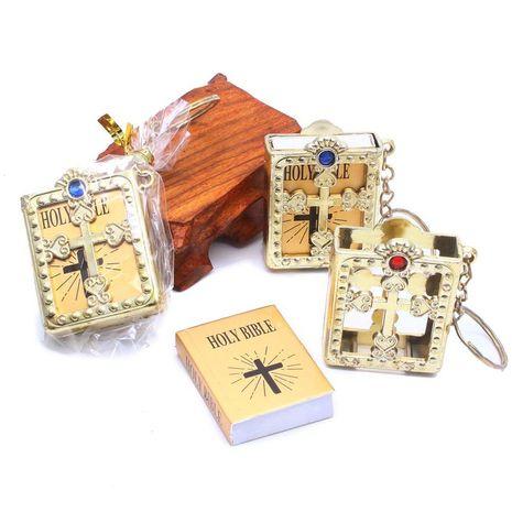 fashion cross mini bible pendant keychain wholesale NHQC273672