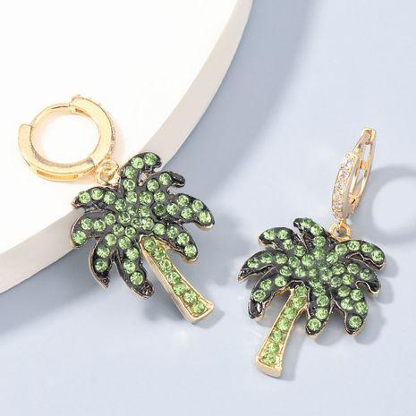 Boucles d'oreilles de noix de coco acrylique en alliage de mode exagéré serti de diamants NHJE273677's discount tags