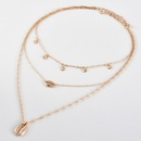 Womens multilayer shell pendant necklace  NHAJ273700