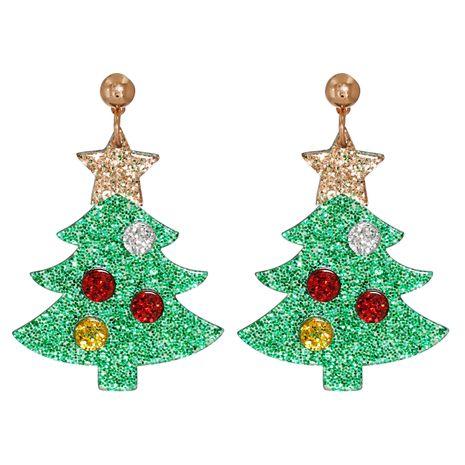 Boucles d'oreilles en acrylique avec chapeau de sapin de Noël NHJJ273702's discount tags