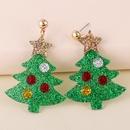 rbol de navidad sombrero mueco de nieve alce pendientes acrlicos NHJJ273702