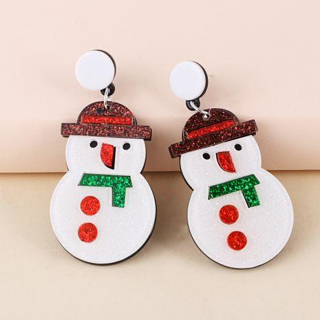 Creative Christmas Elk Snowman Santa Earrings NHJJ273704's discount tags