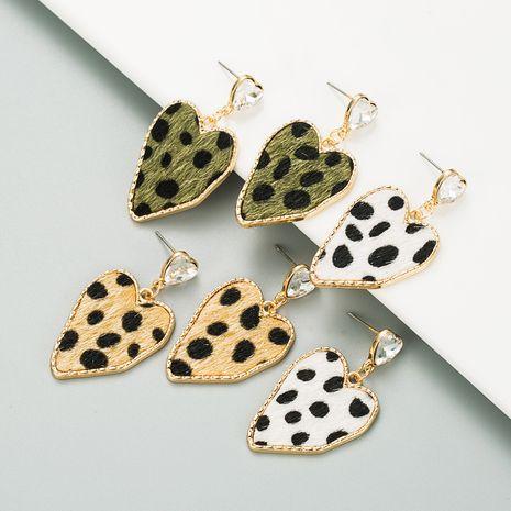 Pendientes con estampado de leopardo irregular de aguja de plata 925 NHLN273712's discount tags