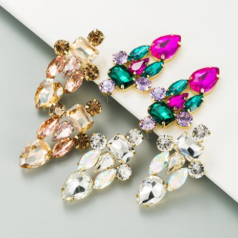fashion colorful diamond alloy earrings NHLN273724's discount tags