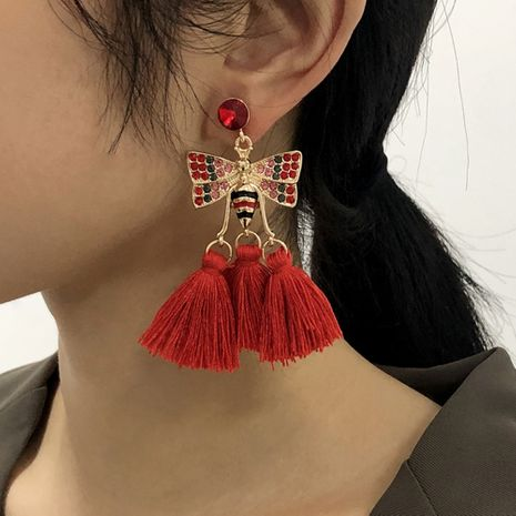 Bohemian Ethnic Style Tassel Earrings NHMD273737's discount tags