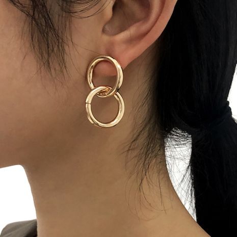 punk style double ring geometric irregular retro earrings NHMD273738's discount tags