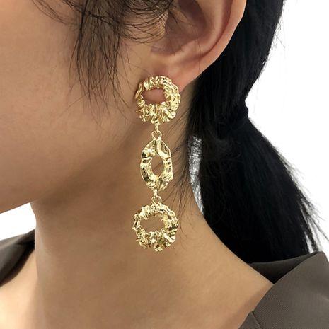 geometric swirl long  vintage earrings NHMD273739's discount tags