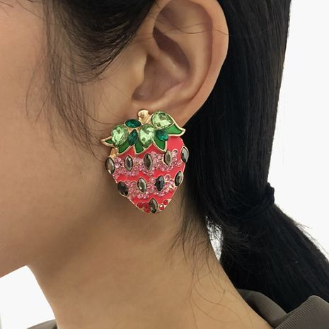 fashion new strawberry fun earrings NHMD273740's discount tags