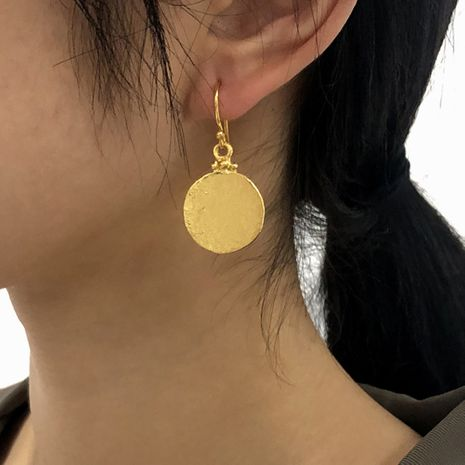 personalized metal geometric disc earrings NHMD273744's discount tags