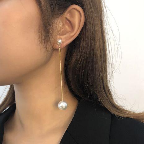 Perle einfache geometrische lange Ohrringe NHMD273754's discount tags
