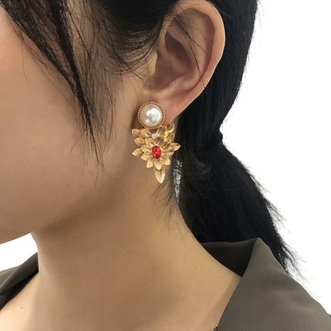 Baroque Light Luxury Retro Palace Earrings NHMD273756's discount tags