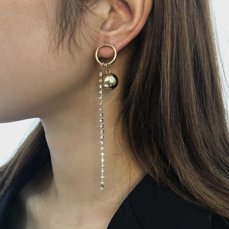 small round long tassel earrings  NHMD273757's discount tags