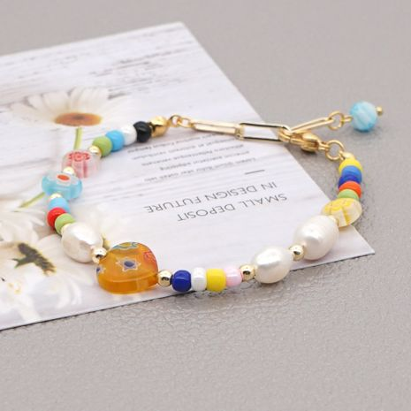 Simple natural freshwater pearl bohemian bracelet  NHGW273763's discount tags