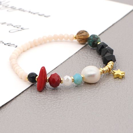 baroque natural freshwater pearl bracelet  NHGW273764's discount tags