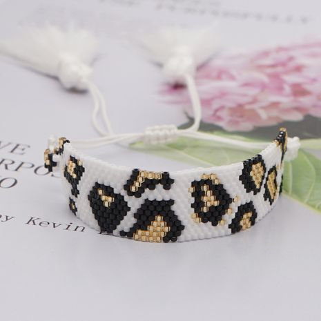 simple bohemian retro leopard print beaded bracelet  NHGW273768's discount tags