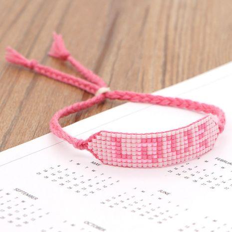woven LOVE letter Bohemian beaded bracelet  NHGW273771's discount tags