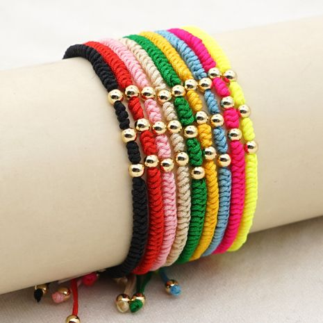 gold-plated non-fading beads small bracelet  NHGW273773's discount tags