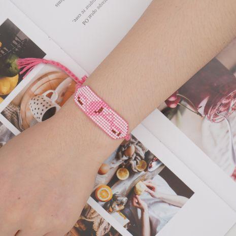 Bohemian rice beads flamingo bracelet  NHGW273774's discount tags