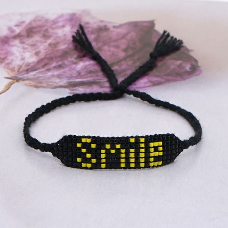 bohemian beaded smile letter bracelet NHGW273775's discount tags