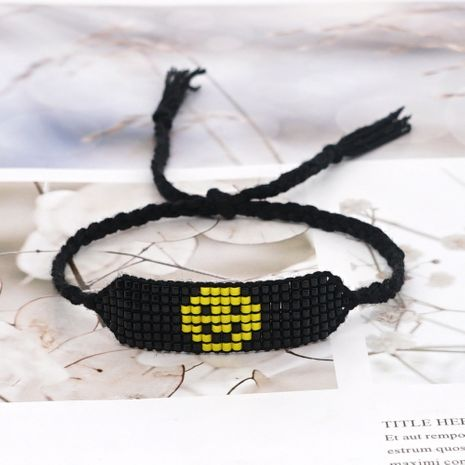 tassel smiley face beaded bracelet  NHGW273776's discount tags
