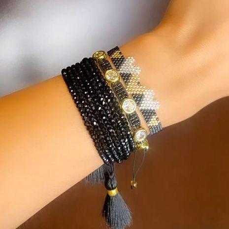 multi-layered diamond punk style couple bracelet  NHGW273788's discount tags