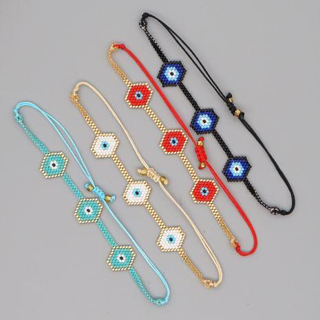 Turkish blue eyes Miyuki  rice bead bracelet  NHGW273795's discount tags