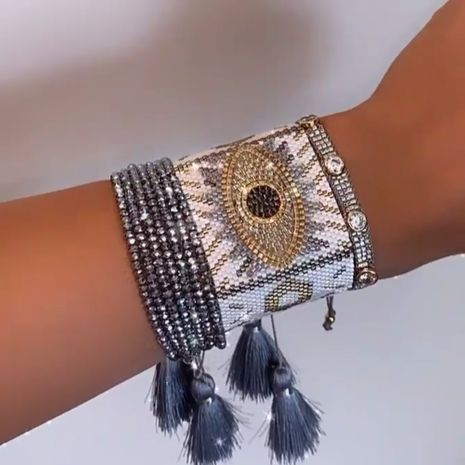 Hand-woven Devil's Eye Ethnic style  Diamond Multi-layered  Bracelet NHGW273797's discount tags