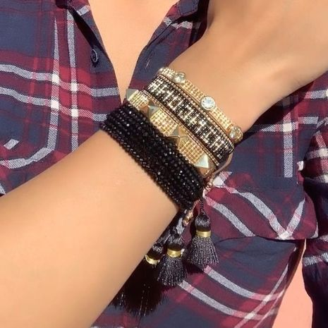 beads hand-woven  letter bracelet  NHGW273799's discount tags